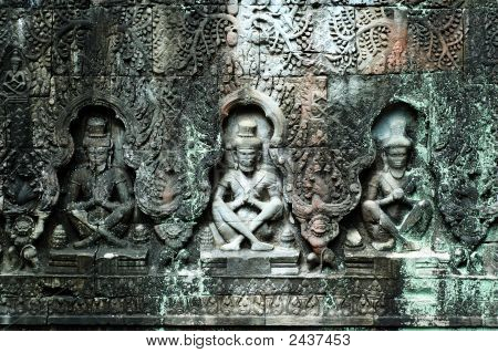 Sculpted Buddhas, Siem Reap, Cambodia