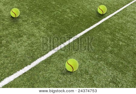 playing field with balls
