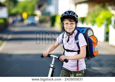 Active School Kid Boy In