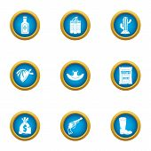 Wanted Icons Set. Flat Set Of 9 Wanted Vector Icons For Web Isolated On White Background poster