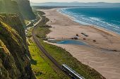 Train Journey Between Londonderry And Coleraine Near The Atlantic Ocean, One Of The Most Beautiful R poster