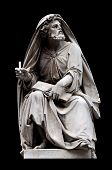stock photo of salvatore  - Isaiah by Salvatore Revelli on the base of the Colonna dell - JPG