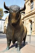 Bull Statue At The Frankfurt Stock Exchange