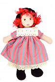 pic of rag-doll  - Beautiful rag doll on a white background - JPG