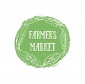 Farm Natural Product Sign. Farm Food Lettering, Floral Label poster