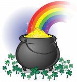stock photo of end rainbow  - A leprechaun - JPG