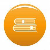 Book College Icon. Simple Illustration Of Book College Vector Icon For Any Design Orange poster