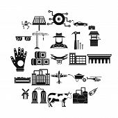 Factory Production Icons Set. Simple Set Of 25 Factory Production Vector Icons For Web Isolated On W poster