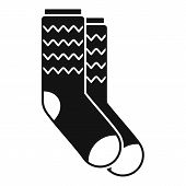 Winter Socks Icon. Simple Illustration Of Winter Socks Vector Icon For Web Design Isolated On White  poster