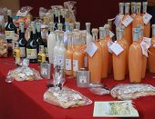 Bottles Displayed on Stall, Friuli Doc