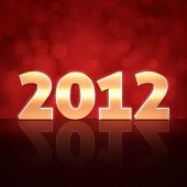 2012 Happy New Year 3d message background
