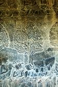 picture of asura  - Sculpted wall at corridor of Angkor Wat Cambodia - JPG