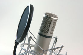 picture of recording studio  - recording microphone and filter music concepts horizontal - JPG