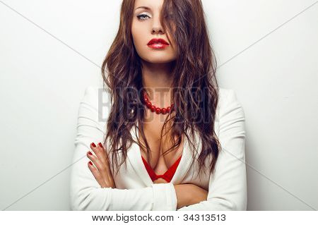 closeup portrait of sexual woman