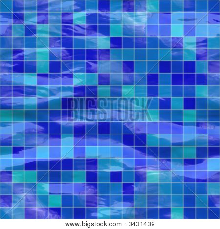 Seamless Blue Tiles, Submerged