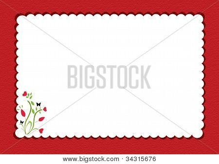 Red Scalloped  Notepad
