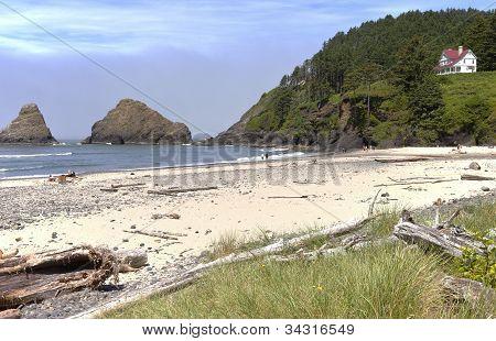 Beach Head Near Hacenta Lighthouse.