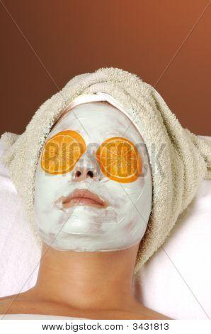 Spa Organic Facial Masque With Citrus Orange Pads