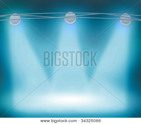 Blue Spotlights Background