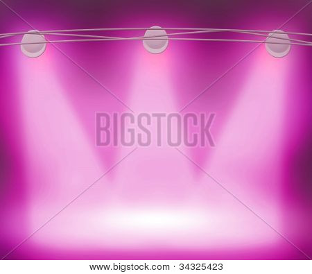 Violet Spotlights Background