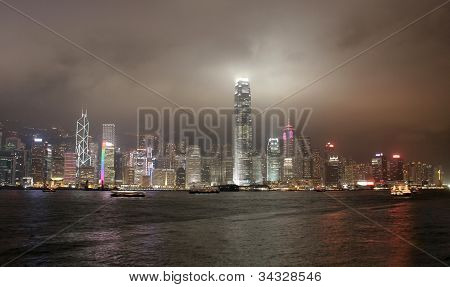 Hong Kong Over Victoria Harbour