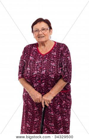 Happy Smiling Elderly Woman