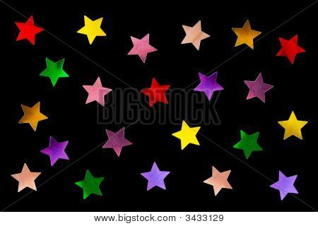 Collection Of Multicolored Stars