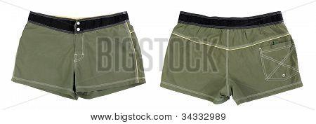 Collage Men's Briefs Khaki Shorts