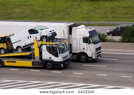 2 Trucks On The Highway