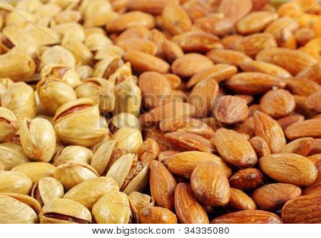 Closeup of dry fruits