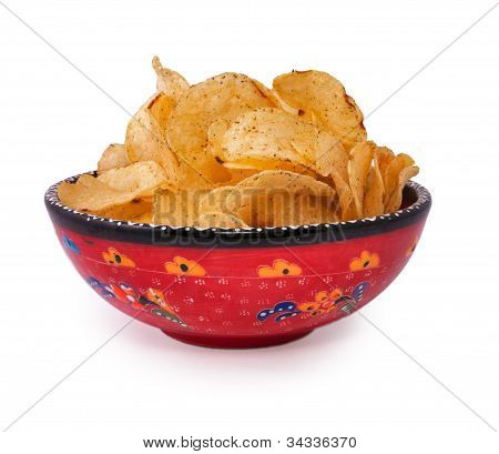 Chips In The Red-painted Cup