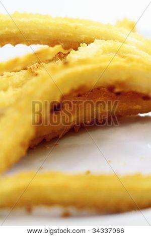 Churros Gastronomic Scene Highlighting Breakfast