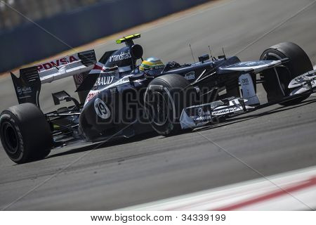 VALENCIA, SPAIN - JUNE 24: Bruno Senna in the Formula 1 Grand Prix of Europe, Valencia Street Circuit. Spain on June 24, 2012