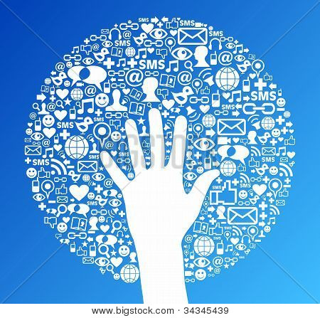 Social Media Network Hand Success