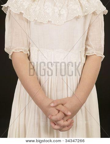 Girl in Antique Dress