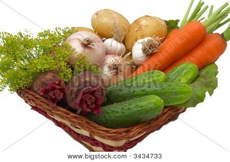 Vegetables In The Basket.