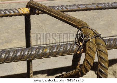 Rebar Tied With Tie Wire For Construction