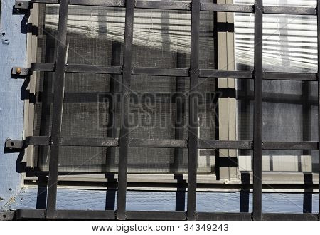 Security Bars On Window With Blinds