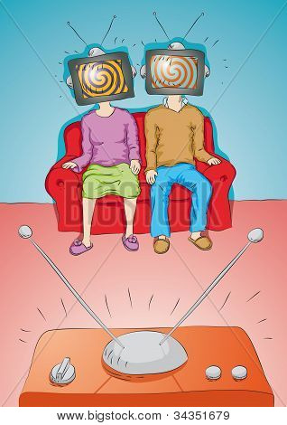 people watch  TV