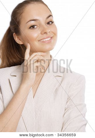 Portrait of a beautiful young female business executive