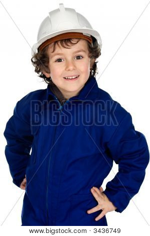 Child  With Work Clothes