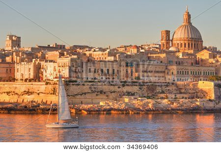Valletta, the Capital City of Malta in early morning.