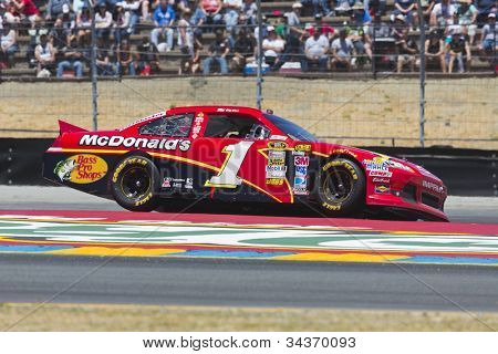 SONOMA, CA - JUN 24, 2012:  Jamie McMurray (1) brings his car through the turns during the Toyota Save Mart 350 at the Raceway at Sonoma in Sonoma, CA on June 24, 2012.