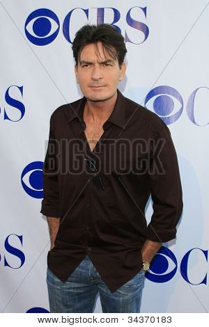 LOS ANGELES - JULY 19: Charlie Sheen arriving at the CBS Summer Press Tour Stars Party 2007 at the Wadsworth Theater in Los Angeles, California on July 19, 2007