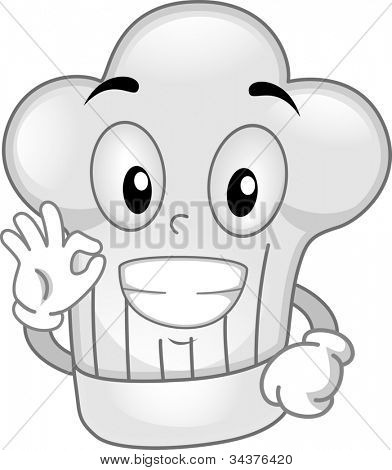 Mascot Illustration Featuring a Toque
