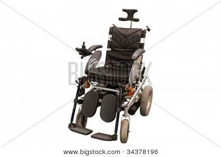 self-propelled wheelchair under the white background