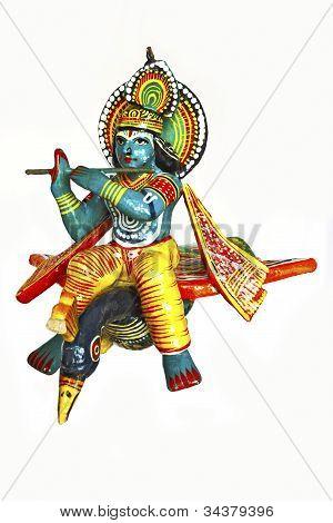 Lord Ram Krishna On A Peacock