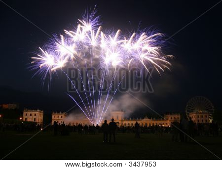 Firework At The Orangerie Castle In Kassel