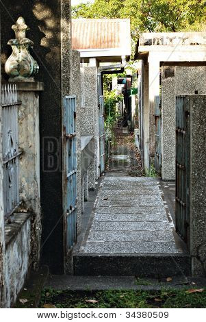 Narrow Urban Alley