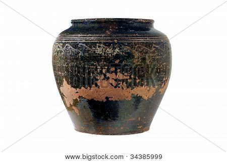 Ancient Vase On A White Background